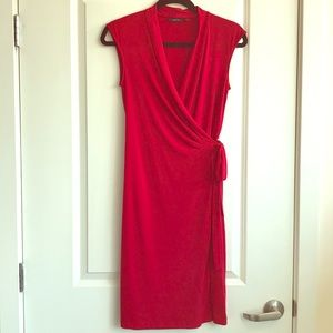 Apt 9 Red Dress Faux Wrap Small